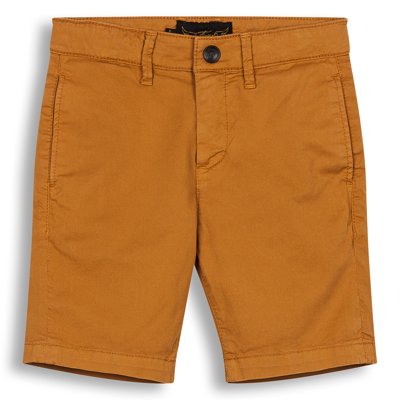 Finger In The Nose Allen Woven Chino Fit Bermuda Shorts Ochre