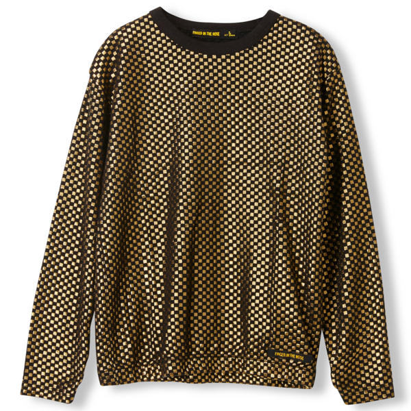 fingerinthenose-bluse-blouse-gold-metal-checkers-long-sleeve