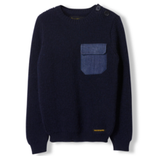 fingerinthenose-sweat-juper-knit-strik-navy-blaa