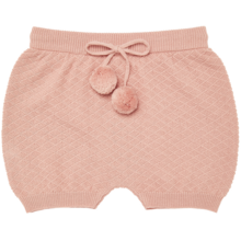 fub-4119ss-baby-bloomers-shorts--blush-rose-rosa-strik-knit-med-snøre-with-laceup-pompom-boern-kids