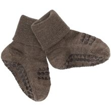 gobabygo-brown-melange-wool-uld-socks-sokker