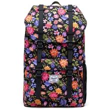 herschel-little-america-youth-rygsaek-backpack-black-sort-floral-blomster-1