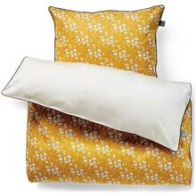 homeyness-sengetoej-bedding-capel-mustard-blomsterprint