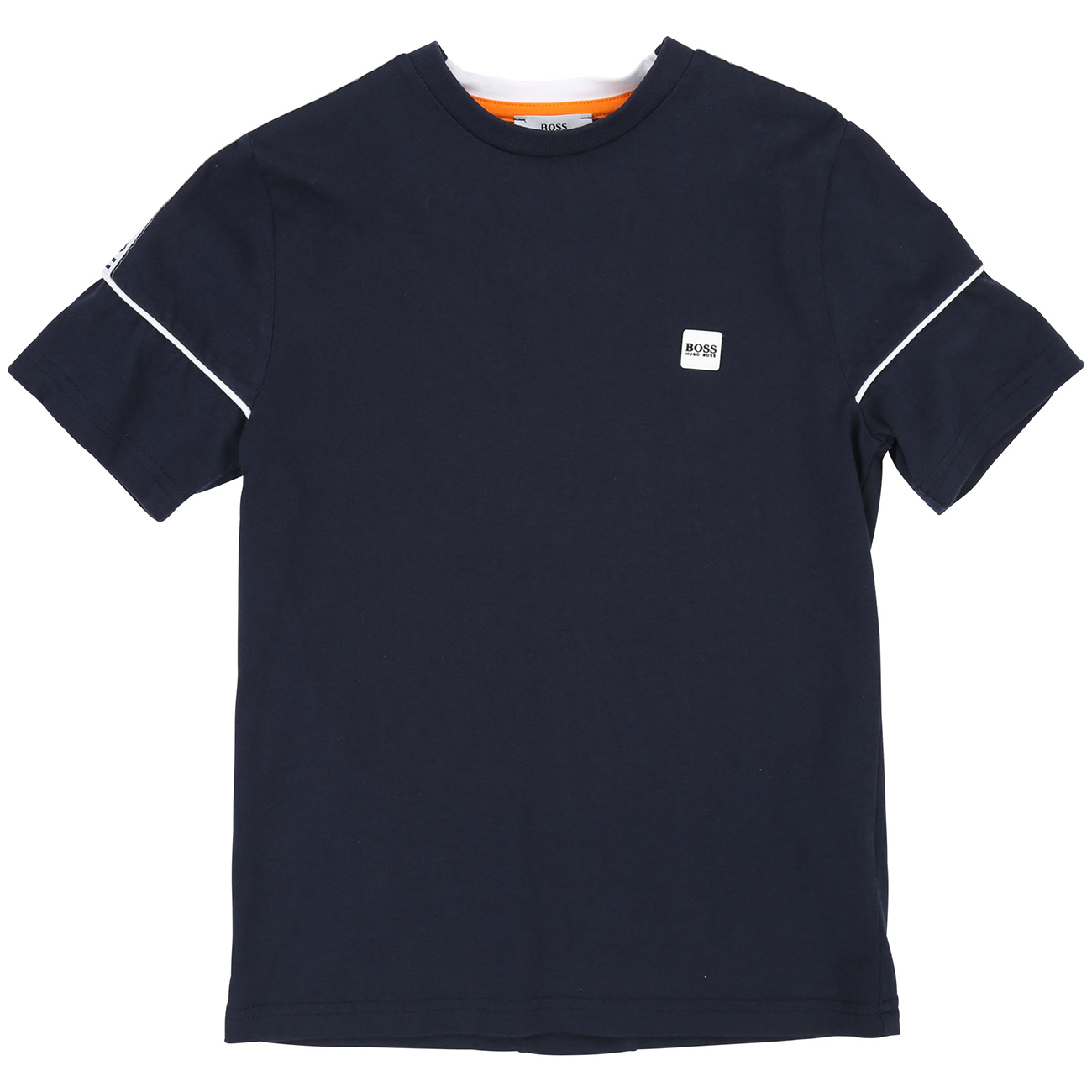 Hugo Boss Boy Short Sleeves Tee-shirt Navy