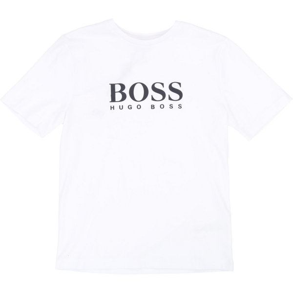Hugo Boss Boy Short Sleeves Tee-shirt White