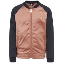 hummel-irma-zip-jacket-jakke-cedar-wood-navy-rose-shiny-look