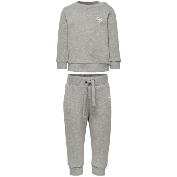 hummel-sweatset-suit-sweatshirt-sweatpants-sweat-bukser-sweatbukser-grey-melange-santo-1