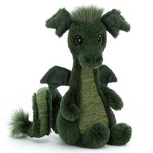 jellycat-bamse-dino-drage-sparks-dragon-green-groen.