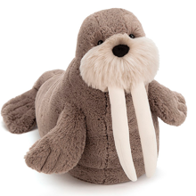 jellycat-willie-hvalros-walrus-bamse-brown-brun-teddy-ocean