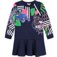 kenzo-dress-kjole-tiger-blaa-blue-navy-pink-emeraude