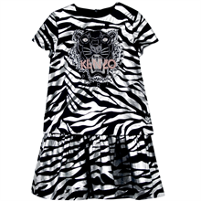 kenzo-party-fest-kjole-dress-tiger-sort-black-lurex-soelv-silver