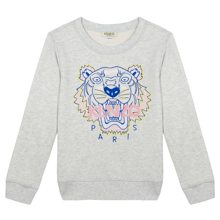 Kenzo Tiger Sweatshirt Light Marl Grey