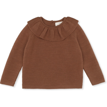 konges-sloejd-AW19-strik-knit-uld-wool-bluse-blouse-fiol-collar-toffee-1