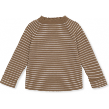 Konges Sløjd Meo Knit Uld Strik Striped Olive/Beige
