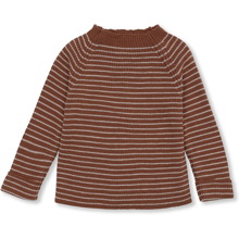 Konges Sløjd Meo Toffee/Beige Striped Knit Uld Strik