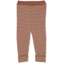 Konges Sløjd Meo Toffee/Beige Striped Knit Uld Strik Bukser