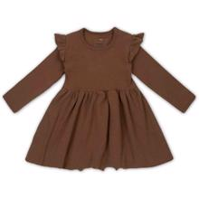 konges-sloejd-siff-kjole-dress-walnut-brown-brun