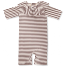 Konges Sløjd Soleil Striped Bordeaux/Nature Girls UV Heldragt