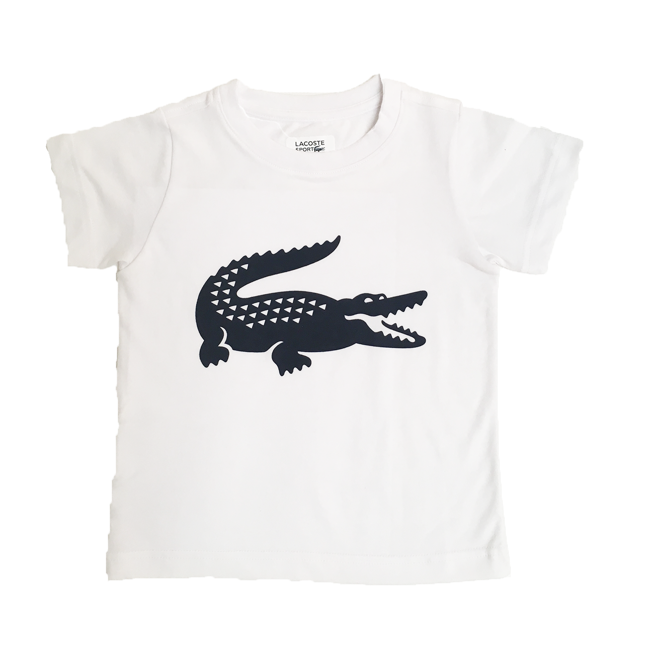 lacoste kinder t shirt blanc marine. Black Bedroom Furniture Sets. Home Design Ideas