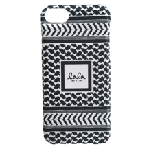 lalaberling-cover-iphone-mobil-sort-hvid-kufiya-white-black-scribbled