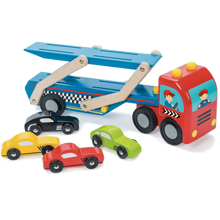 Le Toy Van Race Car Transporter Set