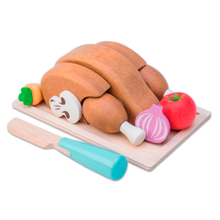 letoyvan-honeybake-kyllingesteg-chickenroast-chicken-kylling-legemad-foodplay-leg-toys-woodentoys-play-1