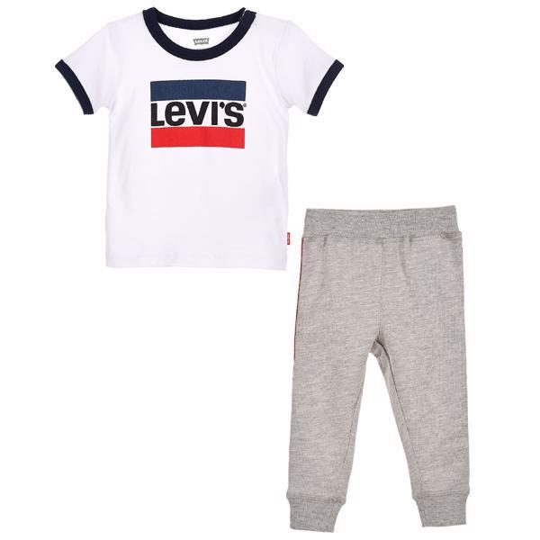 Levi's T shirt Slouchy Jogger Set White