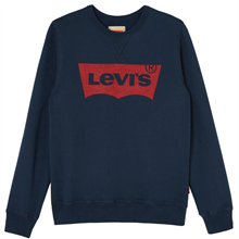 levis-troeje-sweater-blue-blaa-roed-red-print