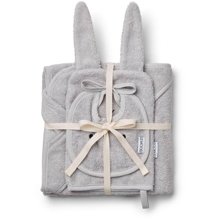liewood-baby-package-terry-babypakke-bib-yowel-washcloth-grey-dumbo-graa