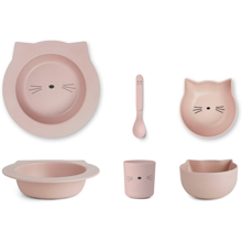 Liewood Barbara Bamboo Baby Set Cat Rose