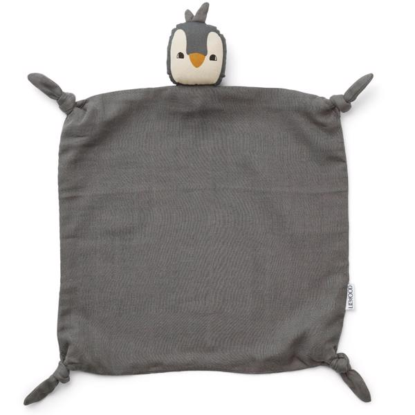 liewood-cuddle-cloth-agnete-nusseklud-penguin-stone-grey