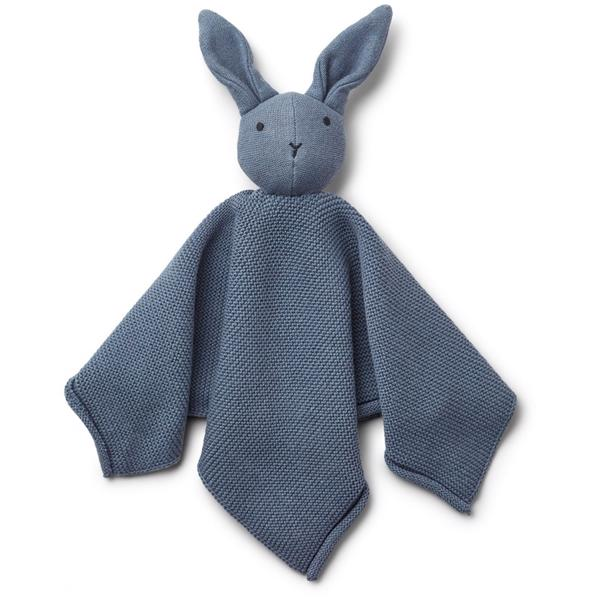 liewood-cuddle-cloth-nusseklud-blue-wave-blaa-rabbit-kanin-knit-strik-lw12809