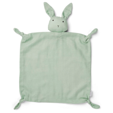 liewood-cuddle-cloths-nussklud-agnete-rabbit-kanin-dusty-mint