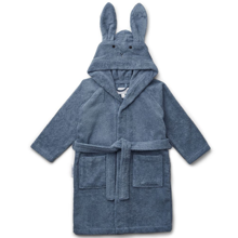 liewood-lily-bathrobe-rabbit-blue-wave-badekaabe-blaa-kanin-boern-kids
