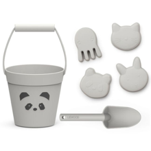 Liewood Dante Beach Set Panda Dumbo Grey