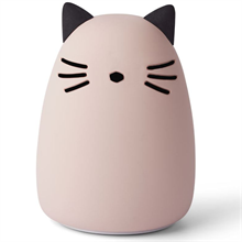 liewood-lw12724-winston-night-light-nat-lampe-cat-rose-kat-rosa-silicone-silikone-boern-kids