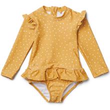 liewood-sille-swimsuit-bbadedragt-lange-aermer-yellow-mellow-confetti