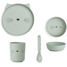 liewood-tableware-bamboo-set-bambus-cat-dusty-mint