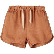 Lil'Atelier Tobacco Brown Saga Shorts