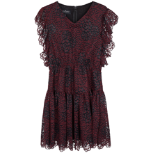 little-remix-kjole-dress-clothes-blonder-blonde-lace-veronica-burgundy-ruffle-1