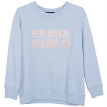 littleremix-little-remix-sweat-sweatshirt-shirt-bluse-blouse-logo-remix-blue-blaa-pastel