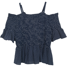 littleremix-little-remix-top-strap-blouse-bluse-dot-rion-smock-navy-blue-blaa