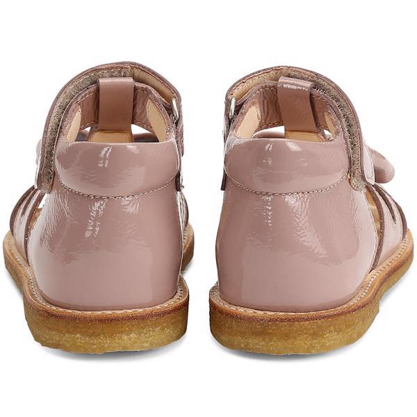 Angulus sandal rose med sløjfe og lak