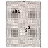 Design Letters Message Board (grey)