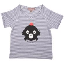 Emile et Ida Boy Tee Shirt Blue Milk