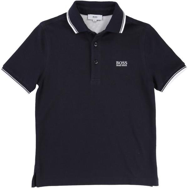 Hugo Boss Boy Short Sleeve Polo Navy