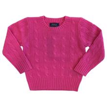 Polo Ralph Lauren Girl Long Sleeved Cashmere Knit Sweater Belmont Pink