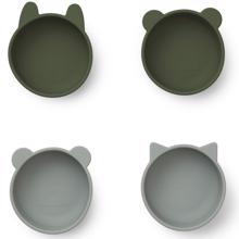liewood-iggy-silicone-bowls-skaale-spisetid-serice-hunter-green-mix