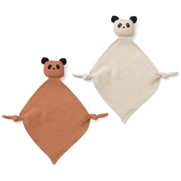 liewood-yoko-cuddle-cloth-nusseklud-baby-panda-tuscany-rose-sandy-mix