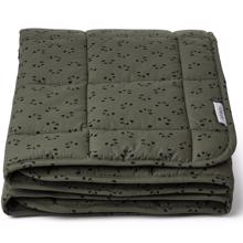 liewood-ebbe-quilted-blanket-taeppe-panda-hunter-green-vattaeppe